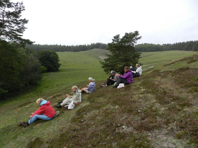 Kaffepaus på Drakamöllan/Kumlans naturreservat