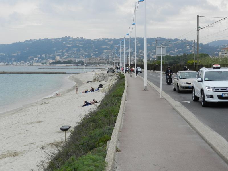 Juan les Pines till Cannes