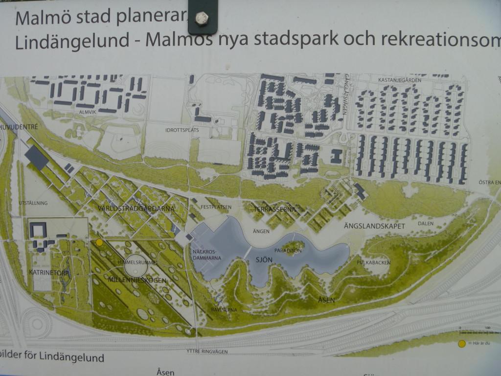 Planerna för Katrinetorps gård och  Lindängelund