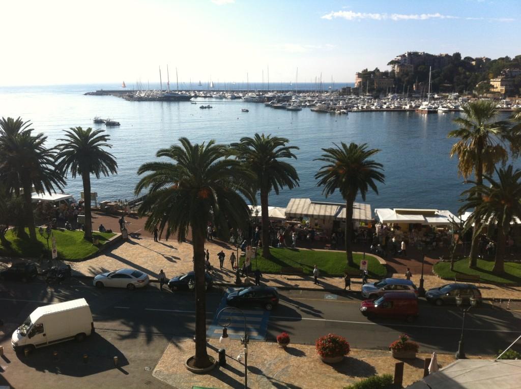 Vy från hotellfönstret i Rapallo