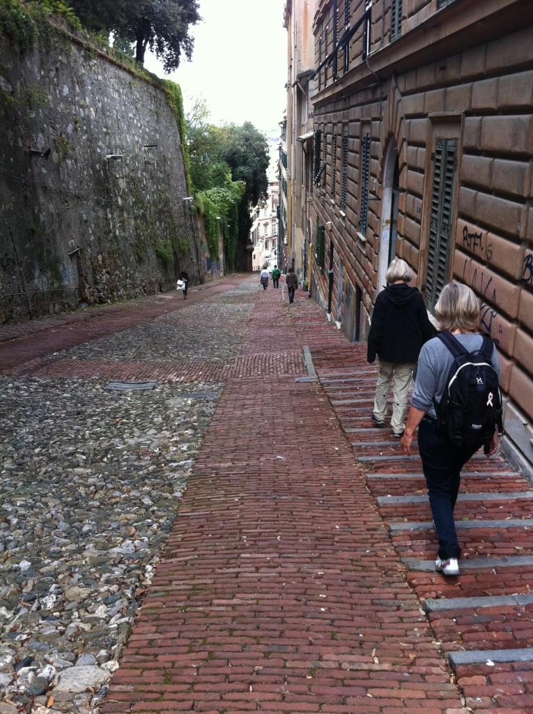 Nerför i Genua