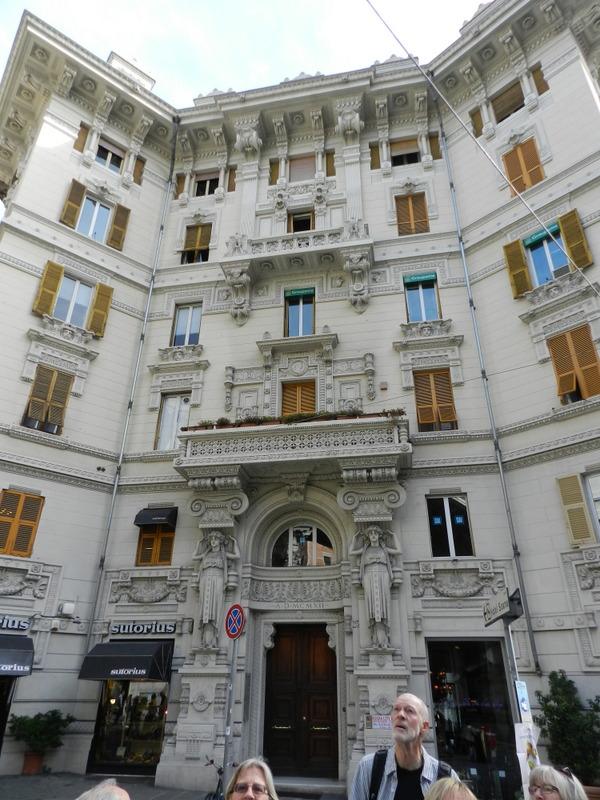 Mycket fina hus att se på i Genua