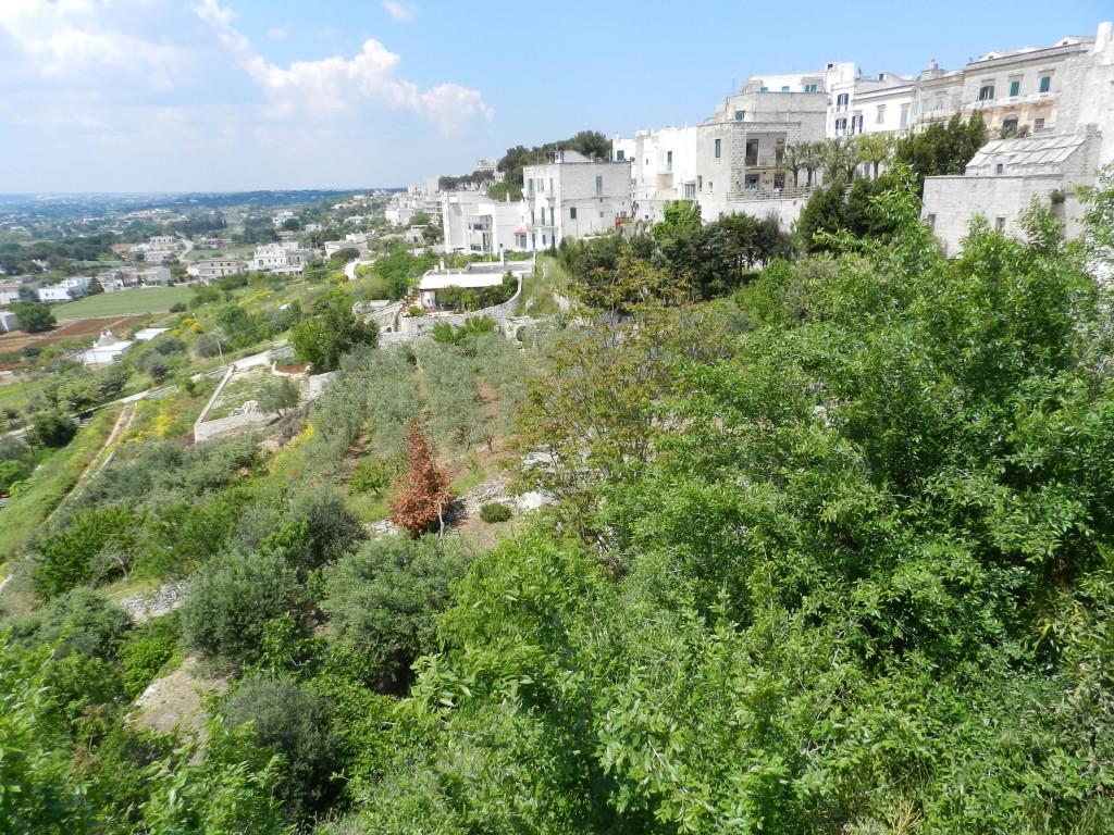 Apulien och en av städerna i vitt