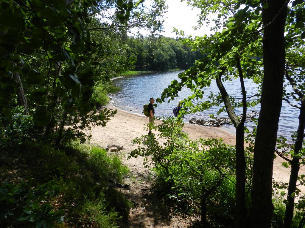 Vittsjön med badplats