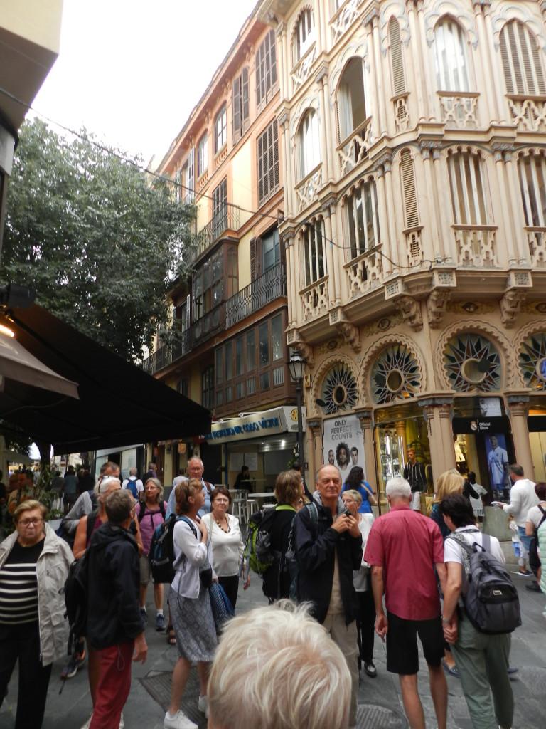 Många vackra byggnader i Palma