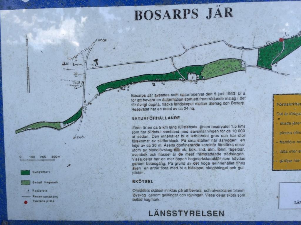 Bosarps Jär är en fin ås som även har motionsstigar
