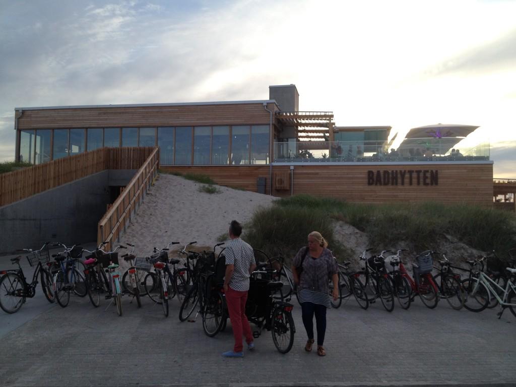 Det nya Badhytten i Skanörs hamn