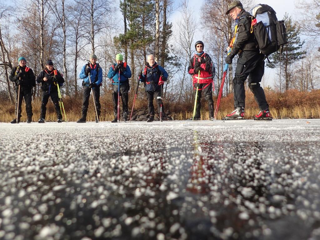 Gruppbild, LSS folk från Karlshamn och så vi fyra från SIK